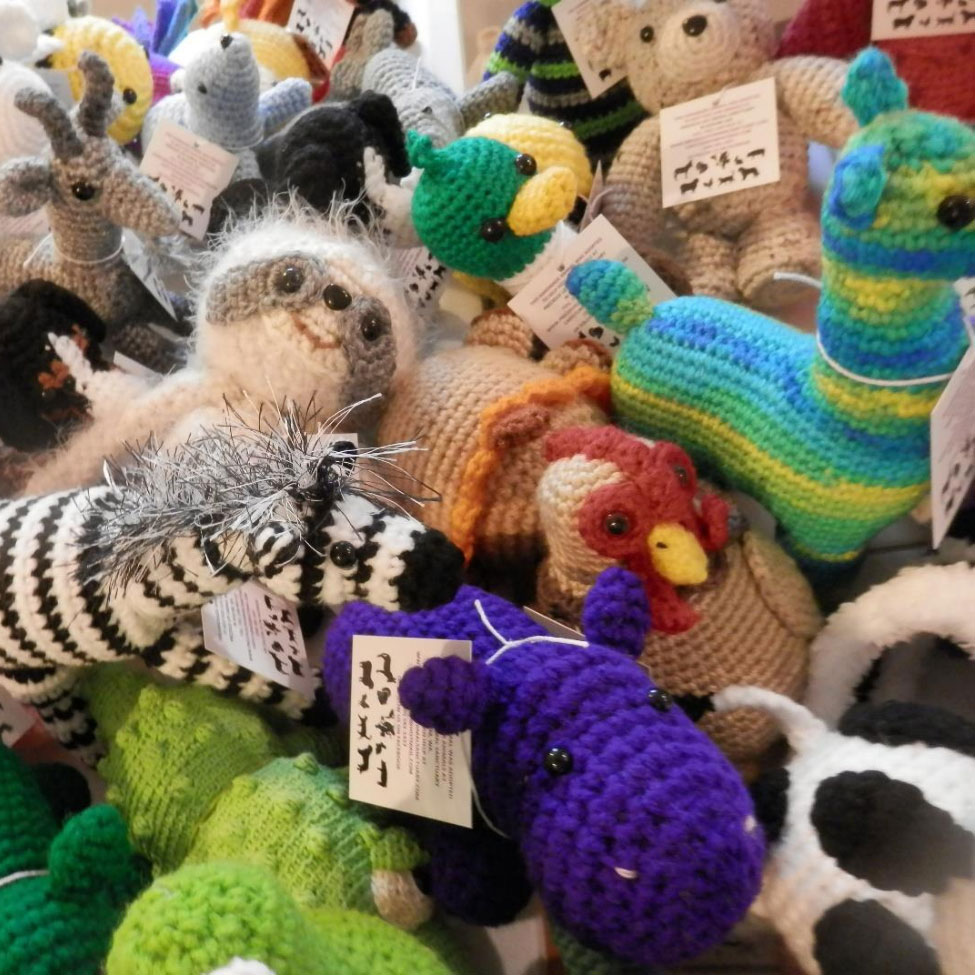 Hand knitted animals